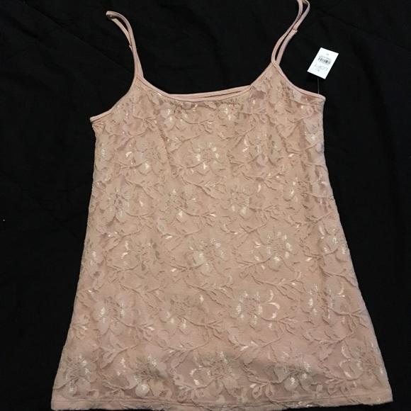 LOFT Tops - Ann Taylor LOFT Pink Camisole Tank Flowers